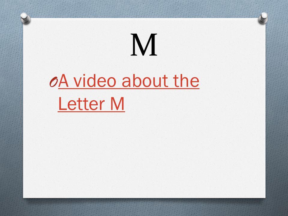 M O Capital: M O Lowercase: m