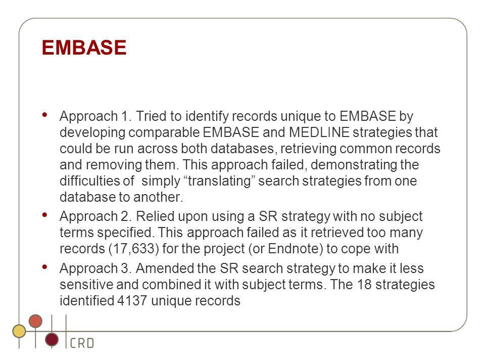EMBASE Approach 1.