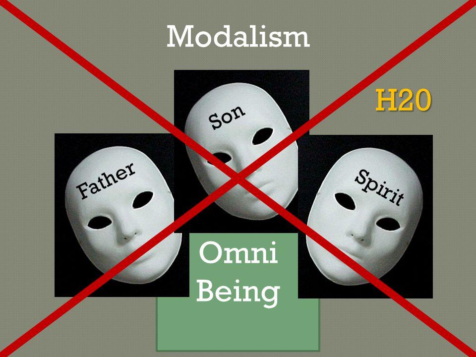 Omni Being FatherSon Spirit Modalism H20