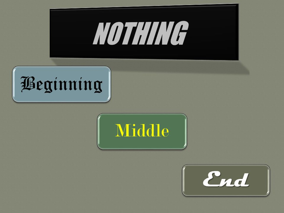 Beginning Middle End