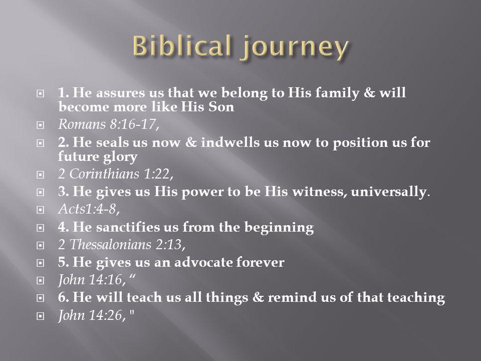  7.He constantly reveals Christ,  John 15:26, 8.