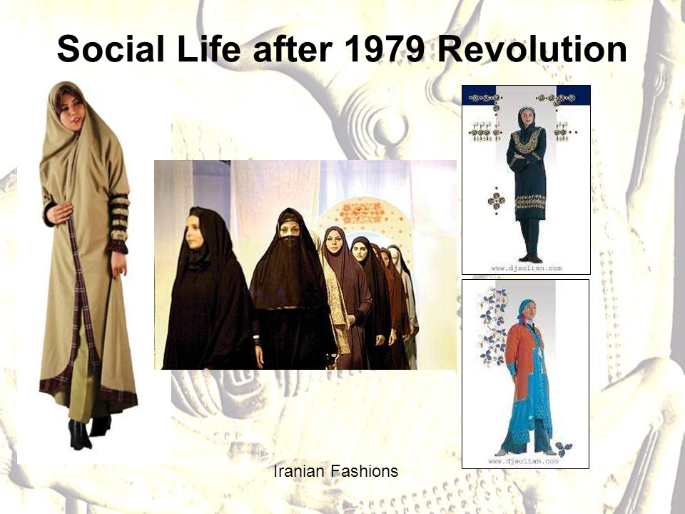 Social Life after 1979 Revolution Iranian Fashions