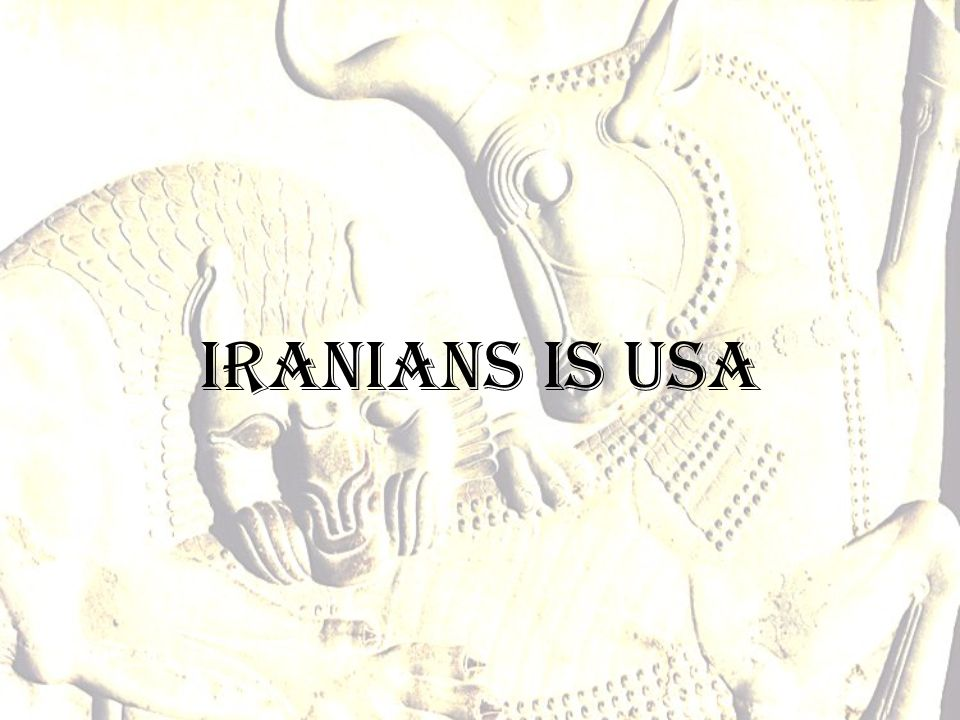 Iranians is USA
