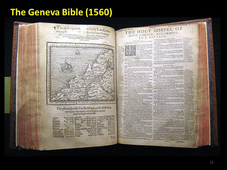 12 The Geneva Bible (1560)