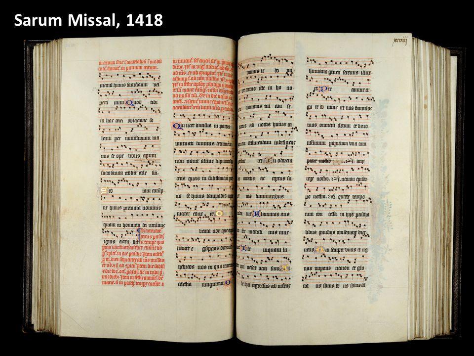 18 Sarum Missal, 1418