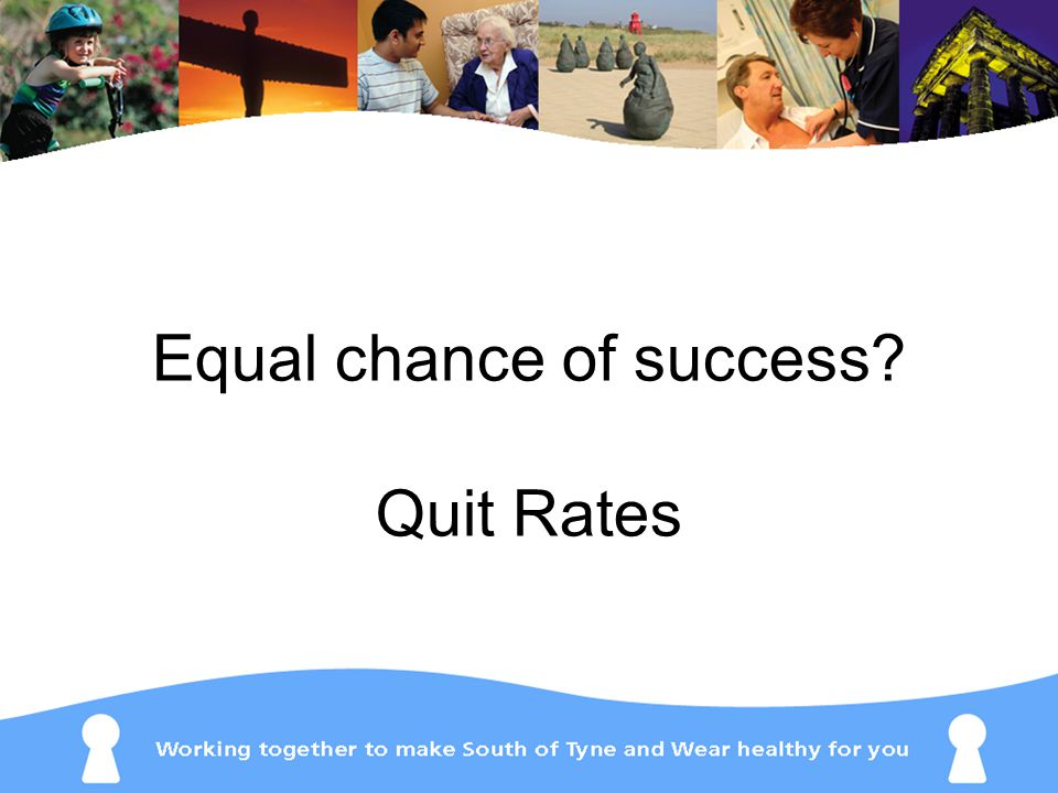 Equal chance of success Quit Rates