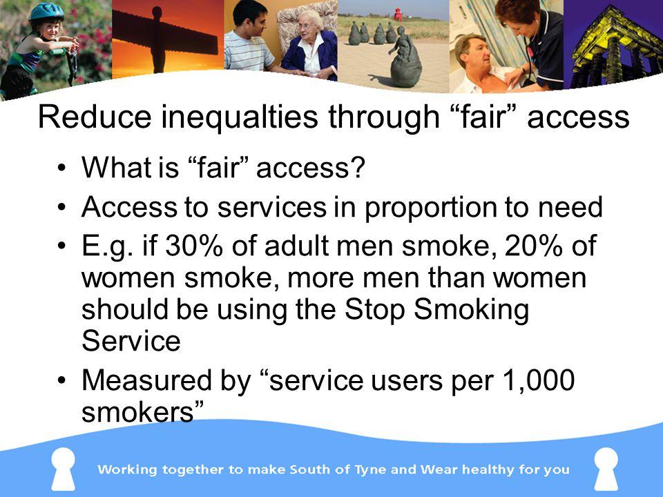 Reduce inequalties through fair access What is fair access.