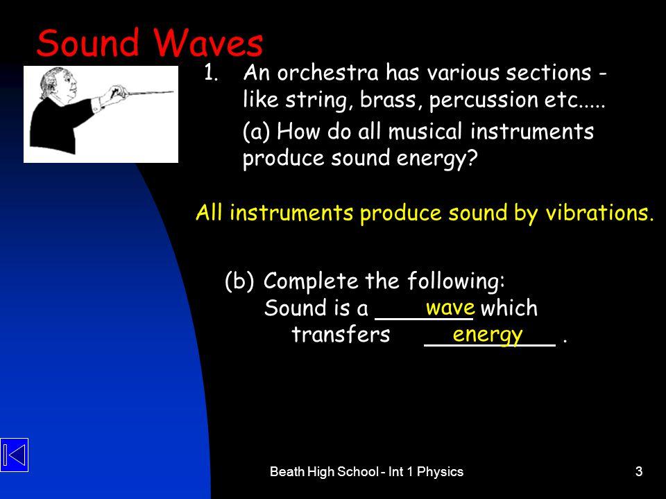 Beath High School - Int 1 Physics24 18.Four oscilloscope traces are shown.