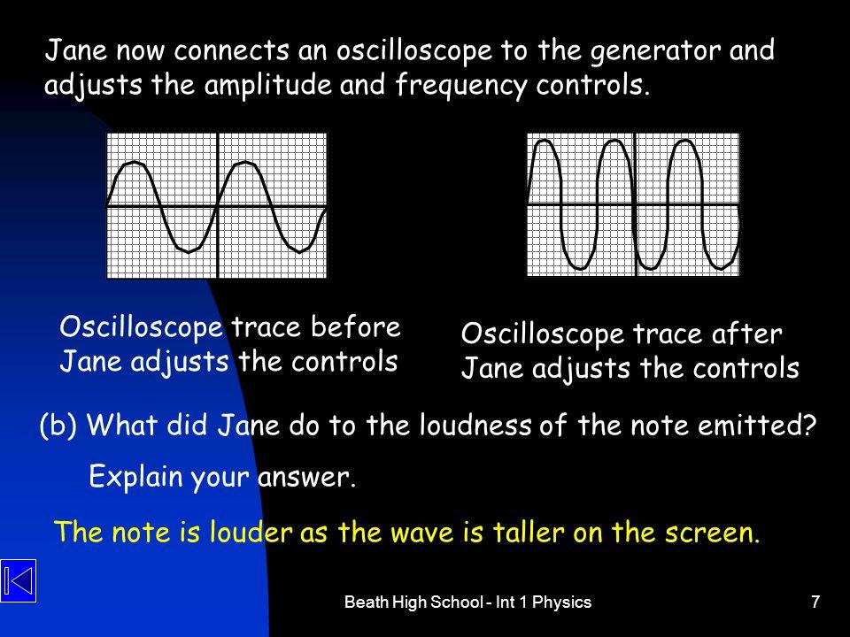 Beath High School - Int 1 Physics18 13.Sound can travel through air.