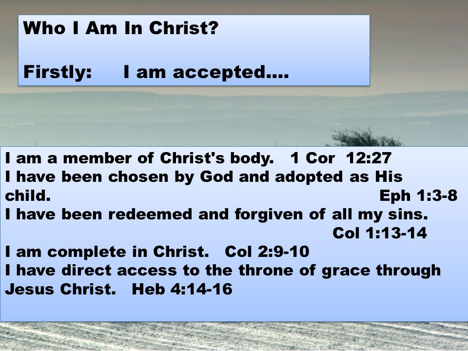 I am free from condemnation.