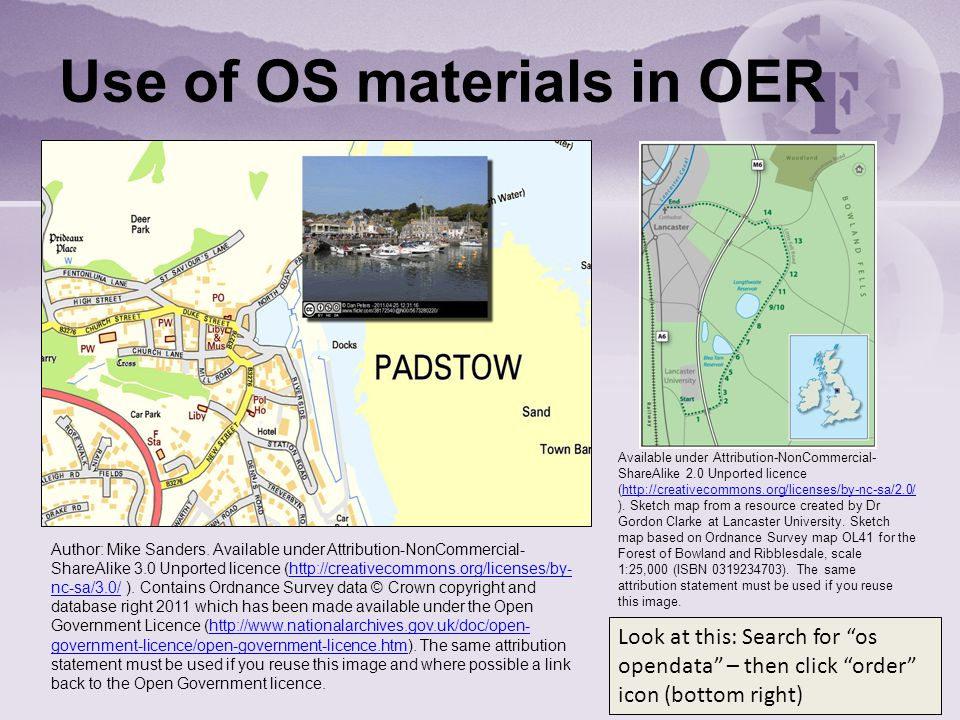 Use of OS materials in OER Available under Attribution-NonCommercial- ShareAlike 2.0 Unported licence (http://creativecommons.org/licenses/by-nc-sa/2.0/ ).