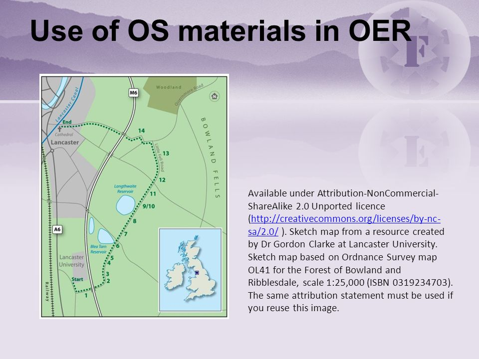 Use of OS materials in OER Available under Attribution-NonCommercial- ShareAlike 2.0 Unported licence (http://creativecommons.org/licenses/by-nc- sa/2