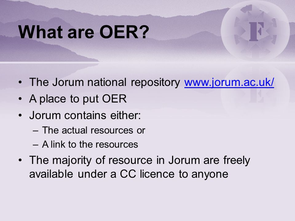 What are OER.