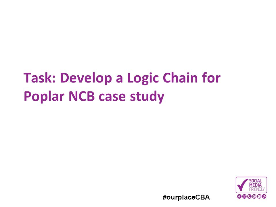 #ourplaceCBA Task: Develop a Logic Chain for Poplar NCB case study