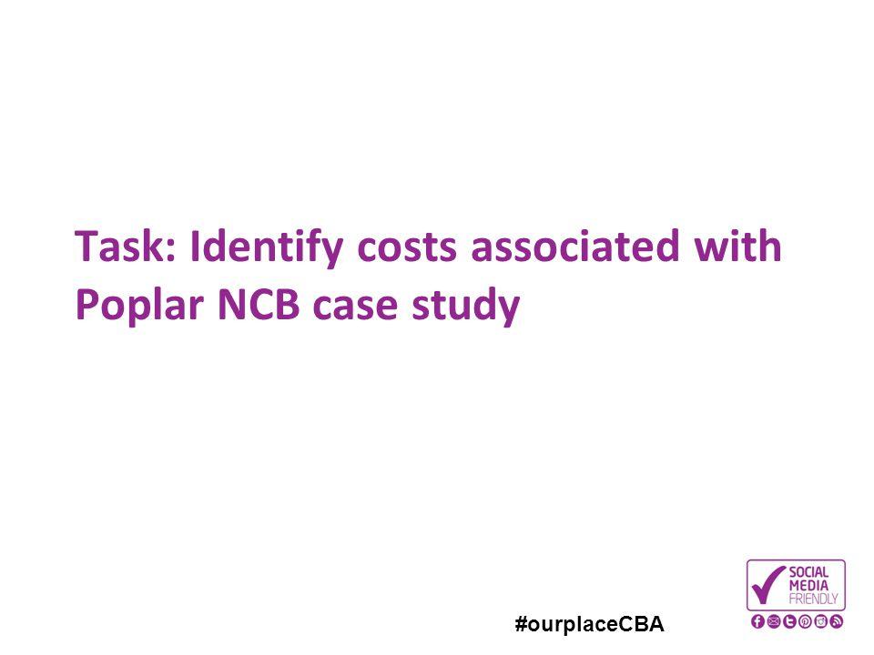 #ourplaceCBA Task: Identify costs associated with Poplar NCB case study