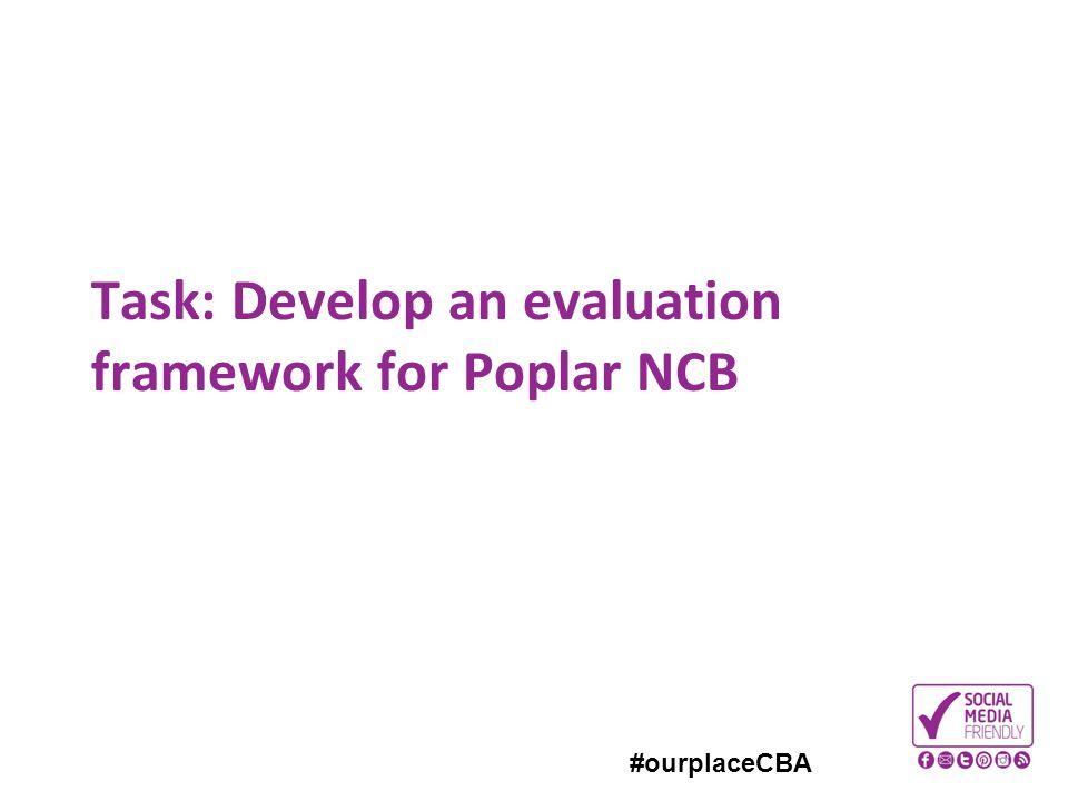 #ourplaceCBA Task: Develop an evaluation framework for Poplar NCB