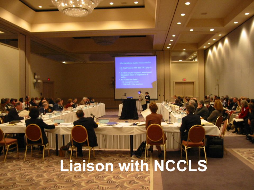 Liaison with NCCLS