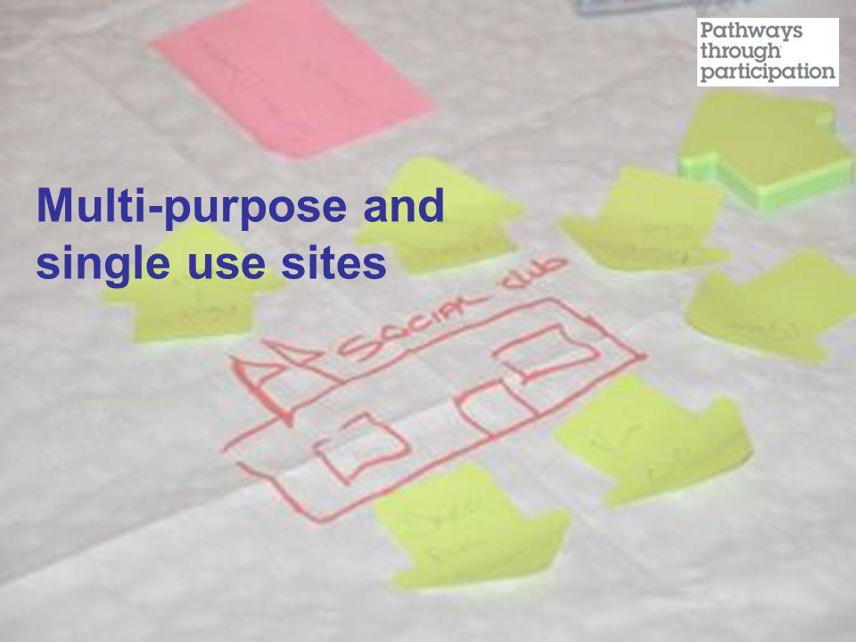 Multi-purpose and single use sites
