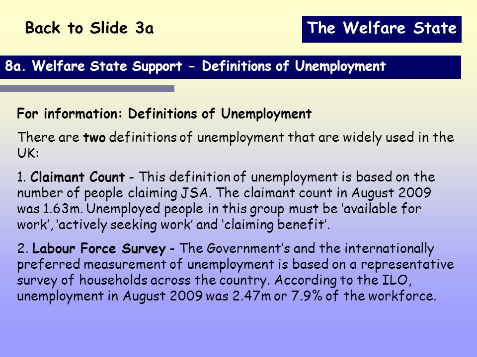 The Welfare State 8a.