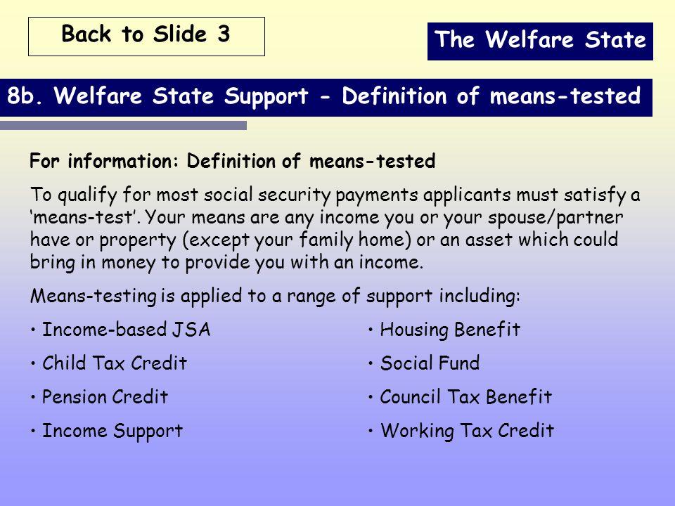The Welfare State 8b.