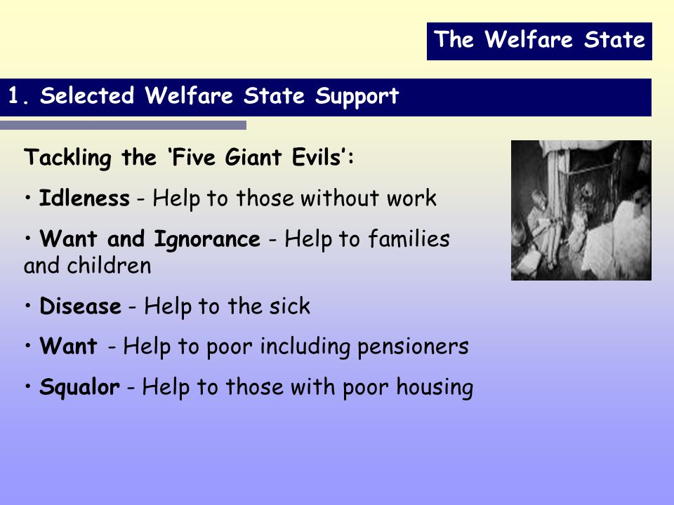 The Welfare State 1.