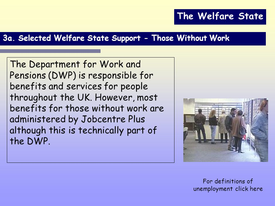 The Welfare State 3a.