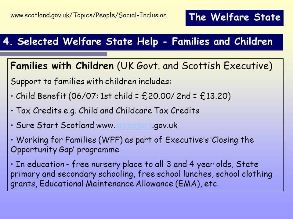 The Welfare State 4.