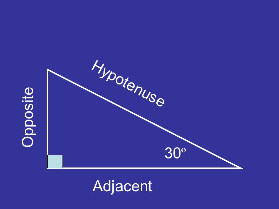 30 º Hypotenuse Adjacent Opposite