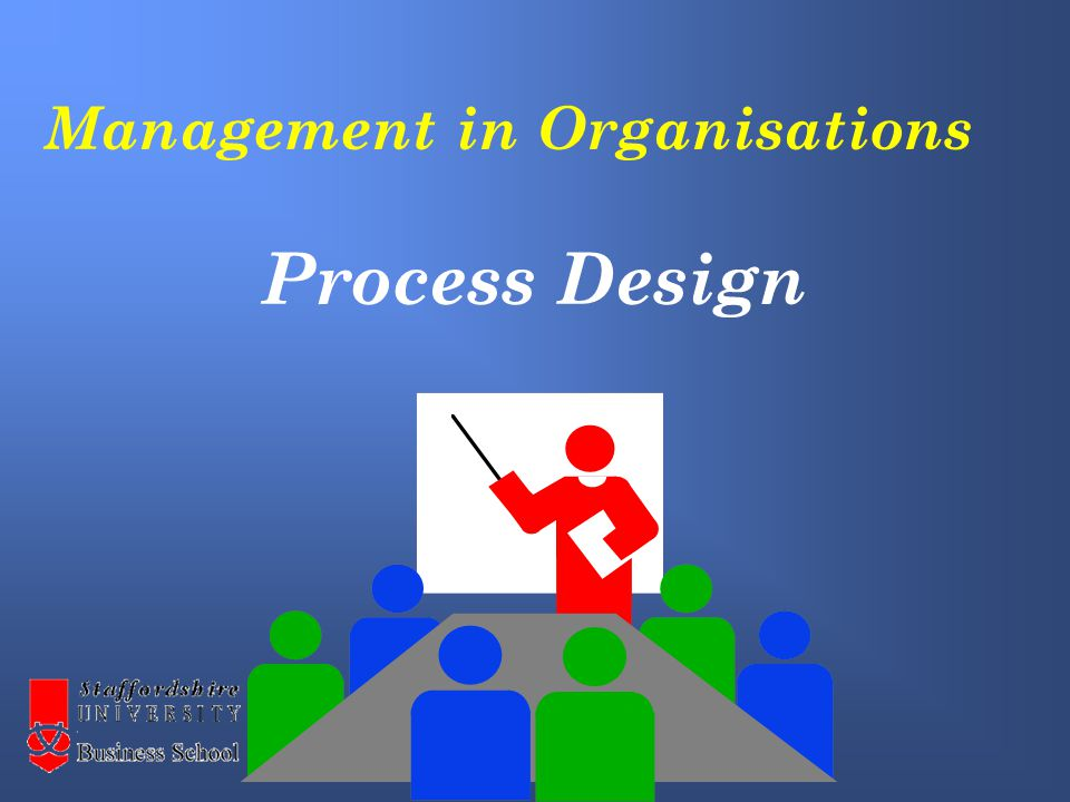 Management in Organisations Process Design
