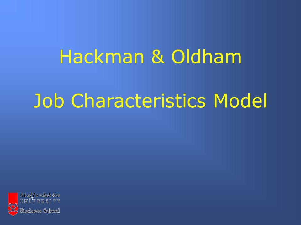 Hackman & Oldham Job Characteristics Model