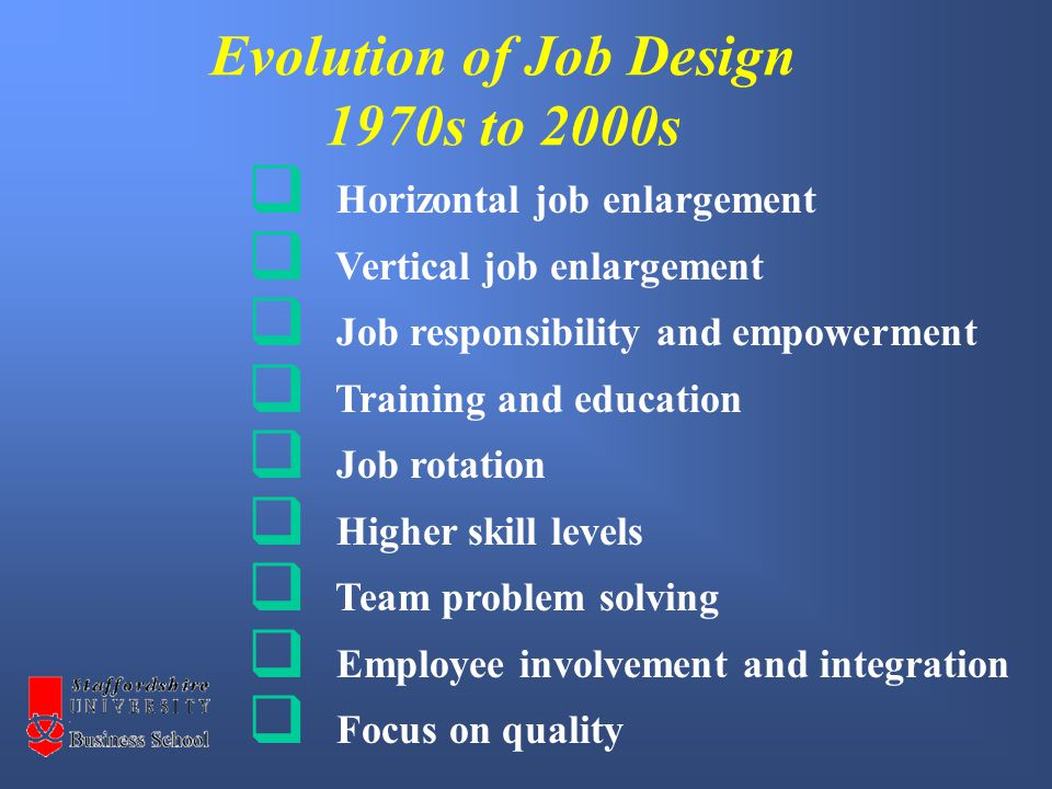 Task - 20 mins 1Review the article Job Design Overview and produce a summary of the major points you feel it raises.