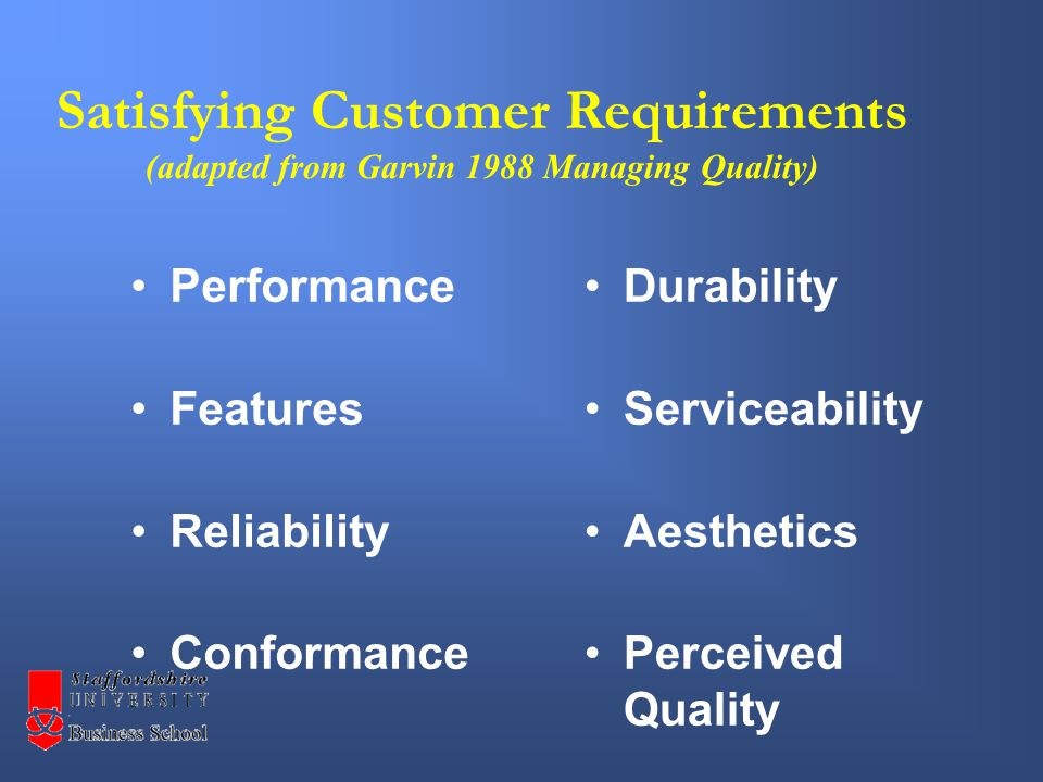 + Reliability Dimensions of Service Quality Five principal dimensions that customers use to judge service quality.