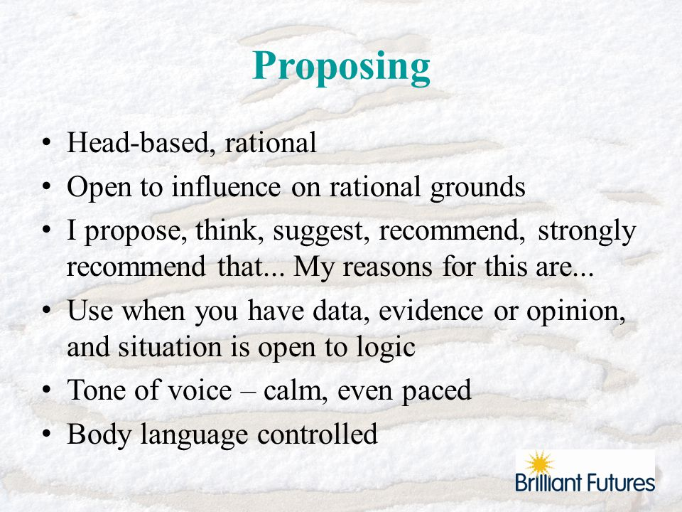 Empathising Active listening and exploring Open ended questions to clarify position Non-judgmental Reflect back and summarise Warm tone of voice Body language – open / relaxed, warm eye contact
