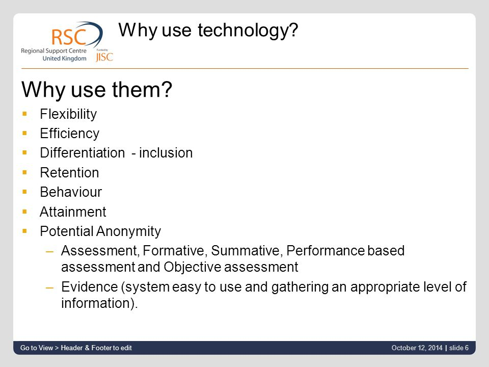 Why use technology. Why use them.