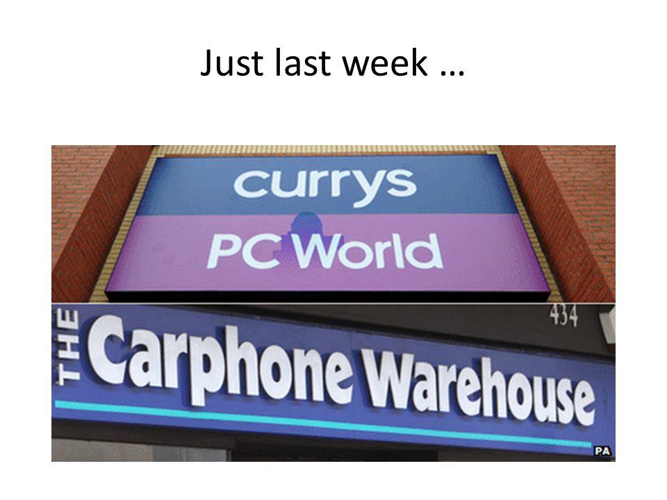 Just last week …