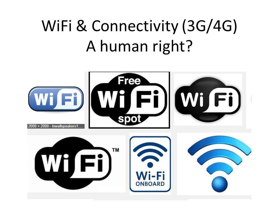 WiFi & Connectivity (3G/4G) A human right