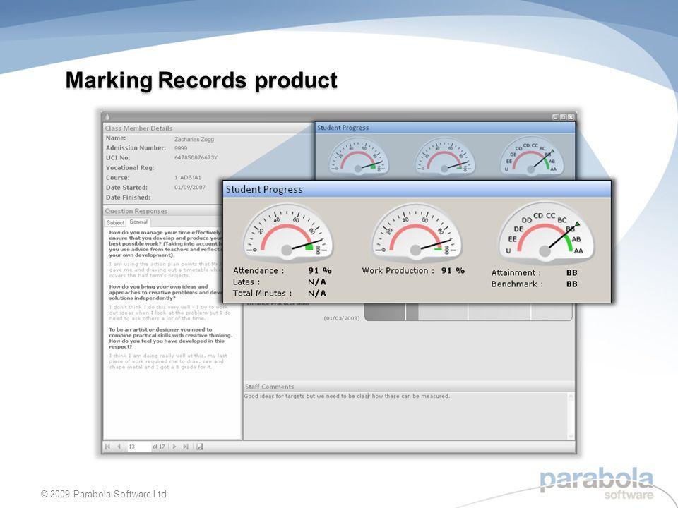 Marking Records product © 2009 Parabola Software Ltd