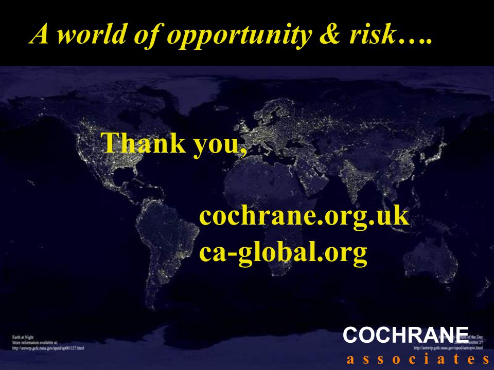 A world of opportunity & risk….