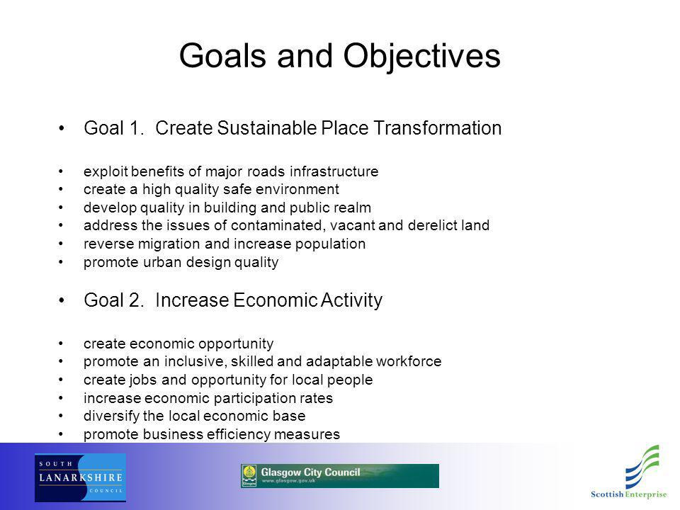 Goals and Objectives Goal 1.