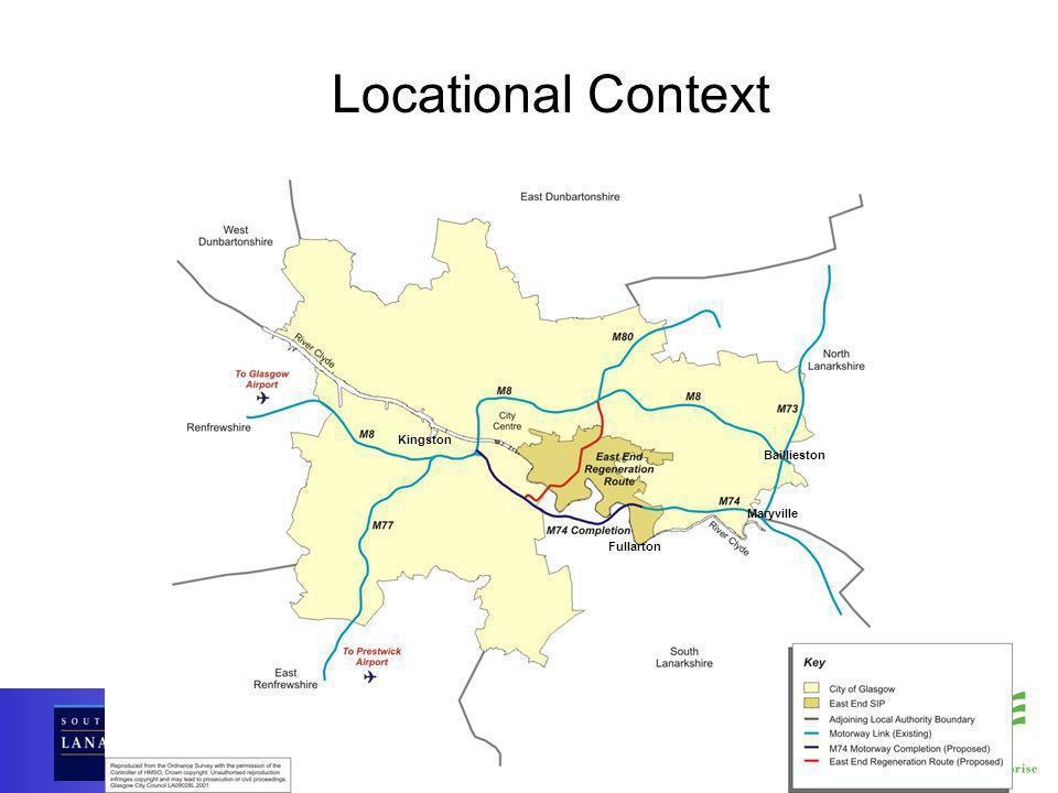 Kingston Baillieston Maryville Fullarton Locational Context