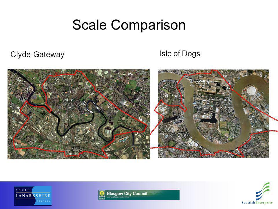 Clyde Gateway Scale Comparison Isle of Dogs