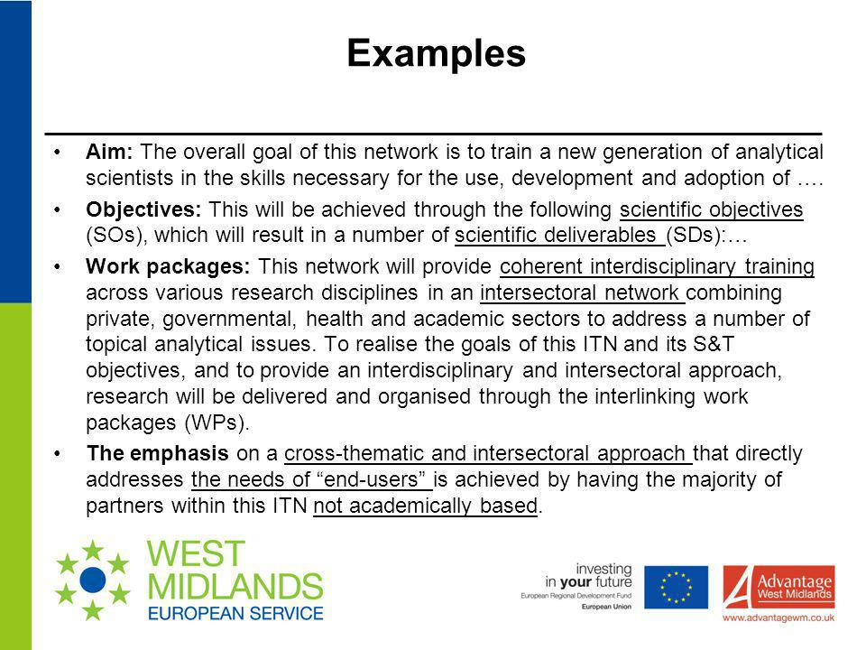 EXAMPLE: A key measure to define the success of the proposed collaboration is its continuation beyond 2013.
