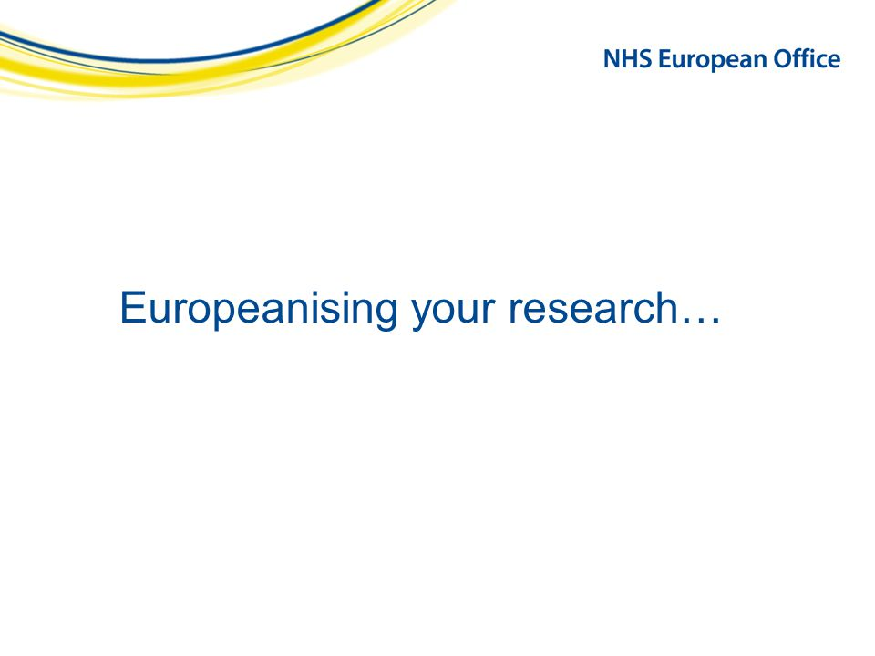 Europeanising your research…