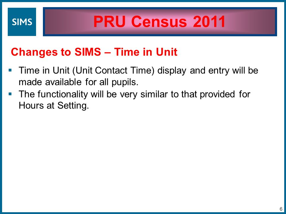  Census Day  20/01/2011  Used for snapshot information, e.g.
