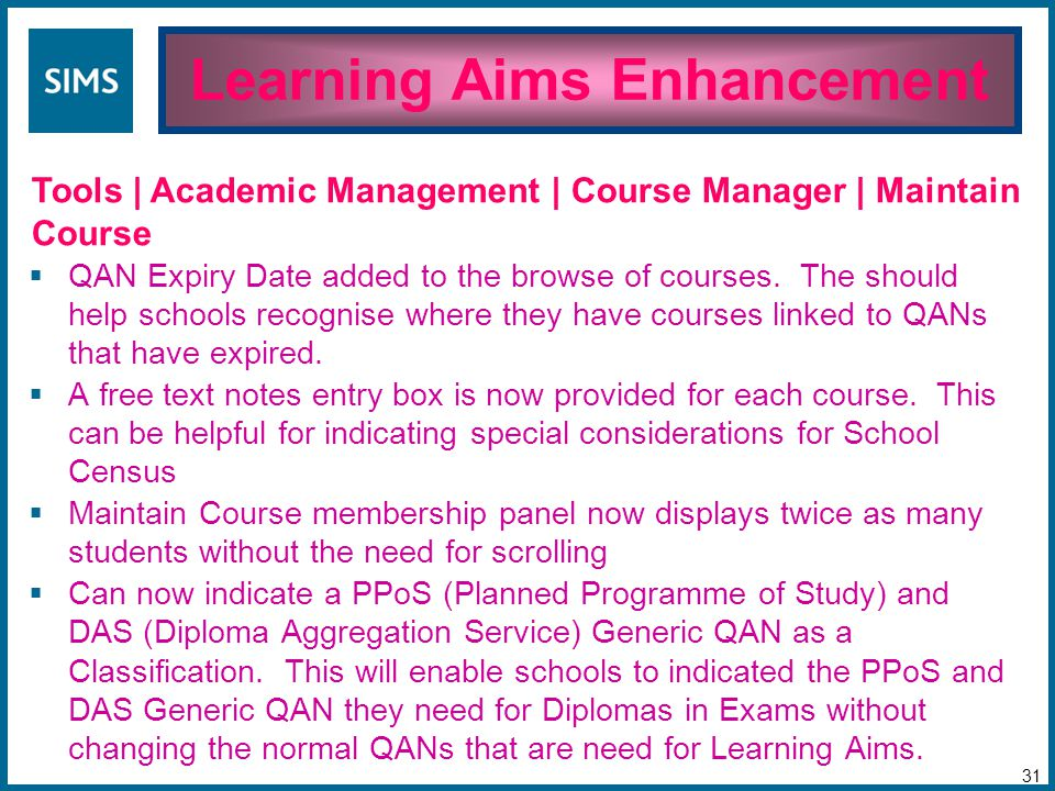 QAN Expiry Date added to the browse of courses.
