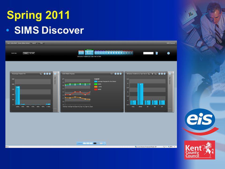 Spring 2011 SIMS Discover