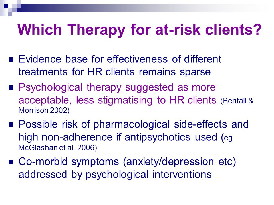 Which Therapy for at-risk clients.
