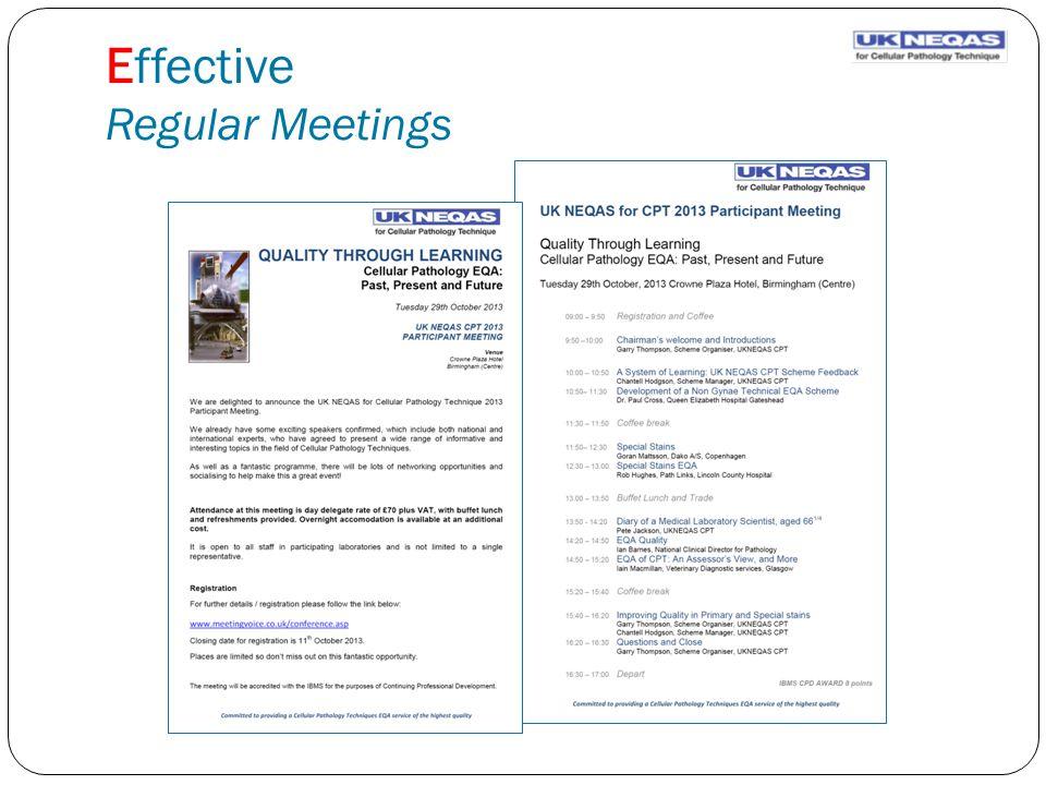Effective Regular Meetings