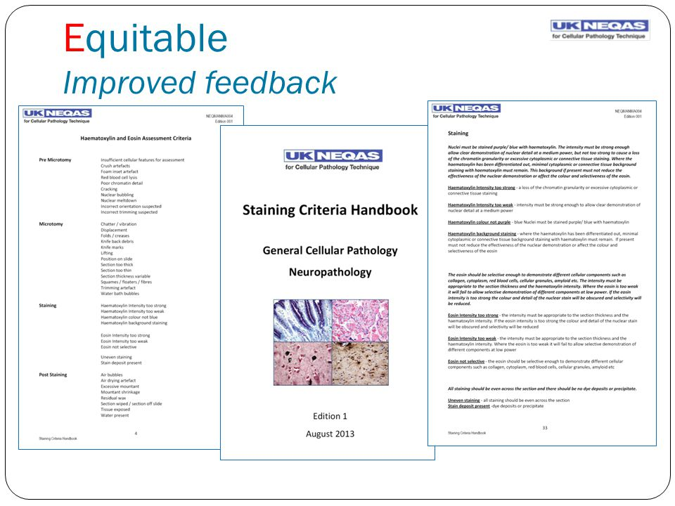 Equitable Improved feedback