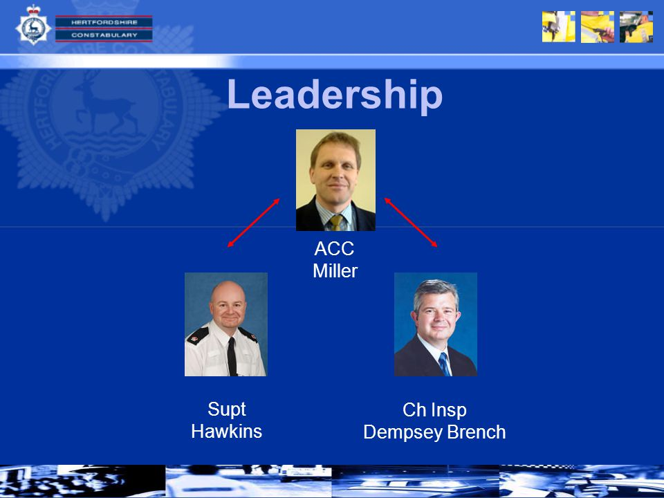 Leadership Supt Hawkins Ch Insp Dempsey Brench ACC Miller